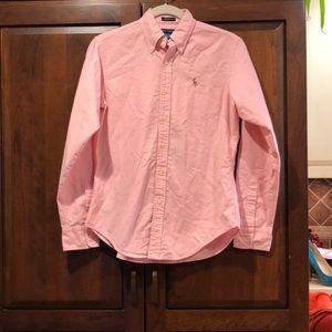 Ralph Lauren vintage pink oxford polo size 4 guc